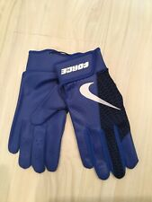 Nike Baseball Force Edge Batting Gloves Adult Large Blue/White