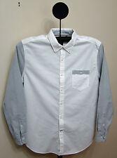 Nautica Bright White Colorblocked Oxford Shirt - Size Large