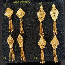 Oro Plateado Aretes Indio Asiático De Moda Bisutería 1 + 1 Gratis