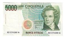 5000 LIRE BELLINI SERIE SOSTITUTIVA XD 1992 SPL+ NON TRATTATO LOTTO 1662