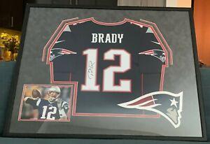 Tom Brady Signed Framed Jersey