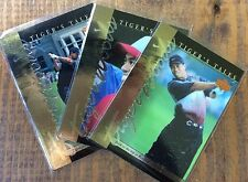 TIGER WOODS Lot 3-2001 Upper Deck Tigers Tales Golf Cards-U.S. Amateur-Slam