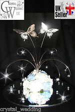 Crystal butterfly rose fountain wedding table centrepiece  ANY COLOUR