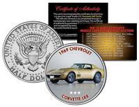 1969 CHEVROLET CORVETTE L88 Auction Muscle Car Colorized JFK Half Dollar US Coin