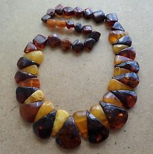 Genuine Baltic Amber Old Raw necklace bead Rare Round natural vintage 26 g