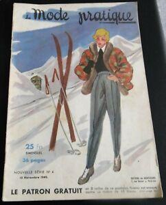 Magazine La MODE PRATIQUE  15 Novembre 1949  n°4