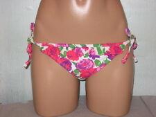 Xhilaration Bikini Swimsuit Bottoms White Pink Floral Ruffle Jr Small 3-5 NWT