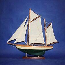 1 x  62CM Vintage Wooden Sailboat Yacht Models  Display YT3230-42G