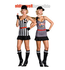 Double Play Sports Reversible Costume XL (14-16) Dreamgirl 6468 Sexy Referee NWT