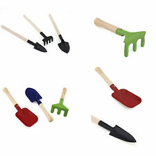 Hot Multicolor Kid Mini Garden Planting Hand Tools Spade Rake Fork Shovel New