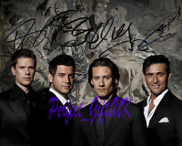 IL DIVO BUHLER IZAMBARD MILLER MARIN SIGNED 10X8 REPRO PP PHOTO PRINT