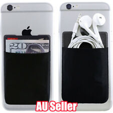 Mobile Smart Phone Lycra Multi Wallet ID Card Holder 3M Adhesive Back Pocket ON