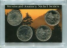 WESTWARD JOURNEY 2005p and 2005d BISON and OCEAN VIEW  NICKEL SET!!! 4 Nickels