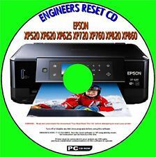 EPSON XP520 XP620 XP625 XP720 XP760 XP820 PRINTER WASTE INK PAD RESET NEW PC CD