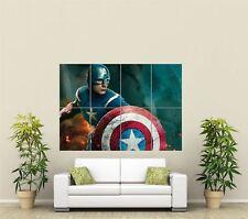 Captain America Comic Book Super Hero Giant Art New Poster Print Picture