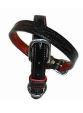 Walsh Centennial Dog Collar (X-Large) Black with Red Stitching, Red on inside
