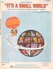 WALT DISNEY theme park ride song IT'S A SMALL WORLD piano guitar DISNEYLAND 1963