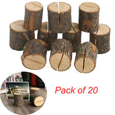 20pcs wooden wedding table number place name memo card stand holder decor