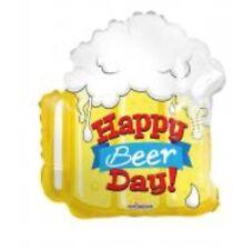 "Happy Birthday Beer 18"" Balloon Birthday Party Decorations"