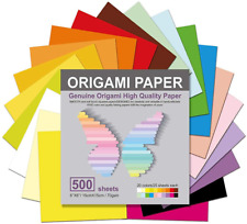 Origami Paper 500 Sheets, 20 Vivid Colors, Double Sided Colors Make Colorful and