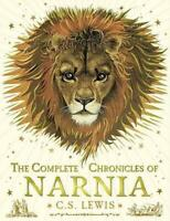The Complete Chronicles of Narnia by C.S. Lewis Hardcover Book Free Shipping!