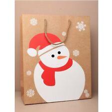 12 snowman small christmas gift bags