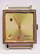 Vintage Waltham Yellow Gold plate Top Stainless Steel Watch Date @ 7 O'Clock
