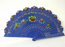 New Spanish Flamenco Vintage Wooden Folding Hand Fan Multi-Colors