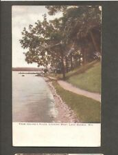 VINTAGE POSTCARD FROM UHLINE'S PLACE LAKE GENEVA WIS WI WISCONSIN 1912