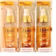 Dove Hair Therapy Nourishing Oil Care Anti Frizz Serum Argan Oil 1.35 oz. 3 PACK