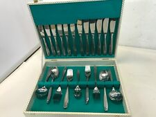 Vintage Retro 42 Piece Monogram Canteen Cutlery Stainless Steel 6 Place Setting