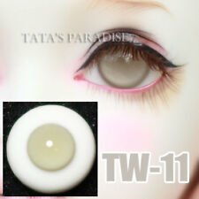 TATA glass eyes TW-11 18mm/16mm for BJD SD MSD 1/3 1/4 size doll use light grey