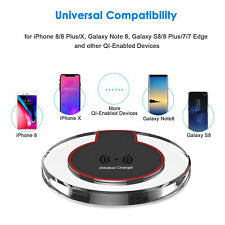 Qi Wireless Charger Pad Charging Dock for iPhone X iPhone 8 8 Plus XR XS XS MAX