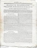 Rare Journal Révolution GAZETTE FRANCAISE Papier Nouvelles Pays an II 1793 N°626