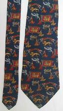 -AUTHENTIQUE cravate cravatte SALVATORE FERRAGAMO  100% soie   TBEG  vintage