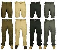 Kam Men's 2 in 1 Shorts Zip Off Cargo Trousers 100% Cotton Work Pants 28-38