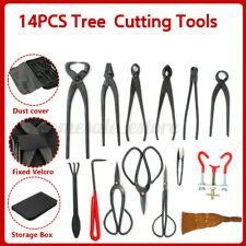 Bonsai Tool Set Carbon Steel Extensive 14-pcs Kit Cutter Scissors Nylon Case