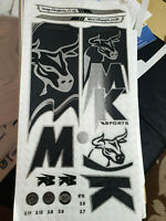*3D/EMBOSSED!* MKBATMAN'S BRAND MK SPORTS CRICKET BAT STICKERS+1 2D STICKER FREE