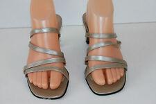 Zapatos DE GILL En Piel Gris claro Tiras Cuero T 37.5 MUY BUEN ESTADO