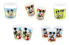 DISNEY Mickey Mouse Designs PLASTIC CUPS (200ml) (Tableware/Party/Kids/Birthday)