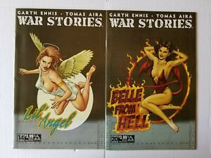 War Stories #14 & 20 Good Girl Nose Art Garth Ennis (Avatar)