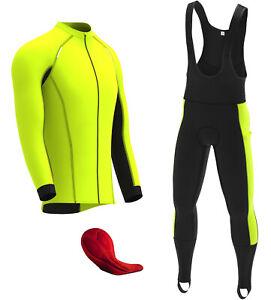 DHERA Mens Thermal Cycling Bib Tight Winter Thermal Gel Padded Cycling Pants