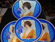 4-VTG PABST BLUE RIBBON BEER SERVING TRAYS~MILWAUKEE WISCONSIN