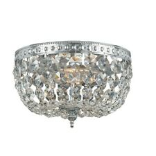 Crystorama 2 Light Clear Crystal Chrome Ceiling Mount II - 710-CH-CL-MWP