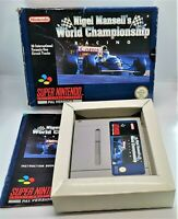 Nigel Mansell's World Championship Racing Super Nintendo SNES PAL BOXED TESTED