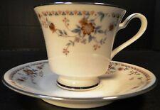 Noritake Adagio Tea Cup Saucer Set  7237 EXCELLENT