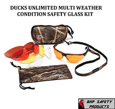 PYRAMEX DUCKS UNLIMITED SHOOTING SAFETY GLASSES WITH 5 INTERCHANGEABLE LENS/CASE