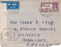 british india  1944 censor air mail madras to englsnd stamps cover ref r15374