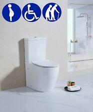 Altura cómoda planteado cerrar acoplado Inodoro Asiento WC desactivado ancianos Soft Closing