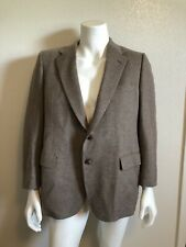 Lanvin Sports Coat 100% Camel Hair Wool Woven in Scotland Two Button 44S